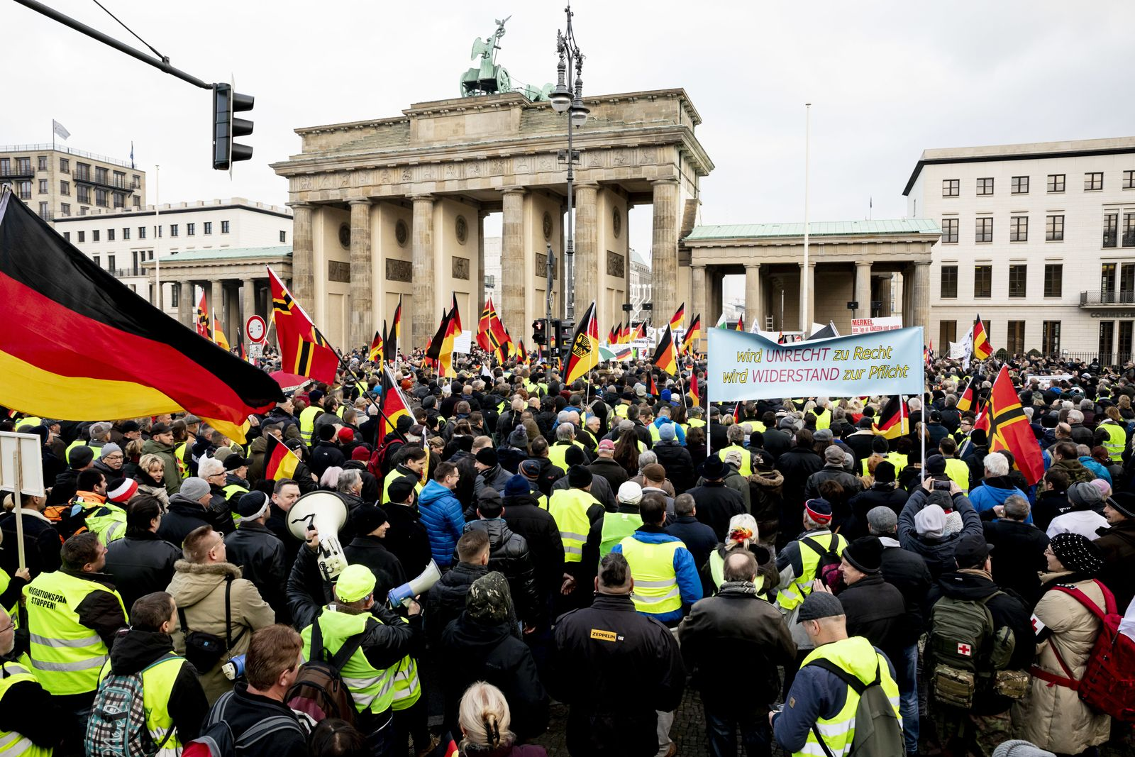 Demonstration des Bündnisses Pegida