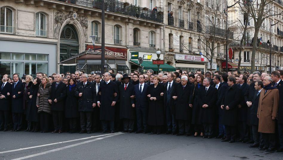 Staatschefs in Paris: Zusammen in einer eigenen Gruppe