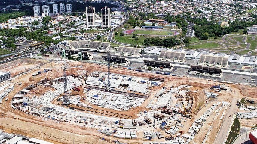 Baustelle der Amazonas-Arena in Manaus