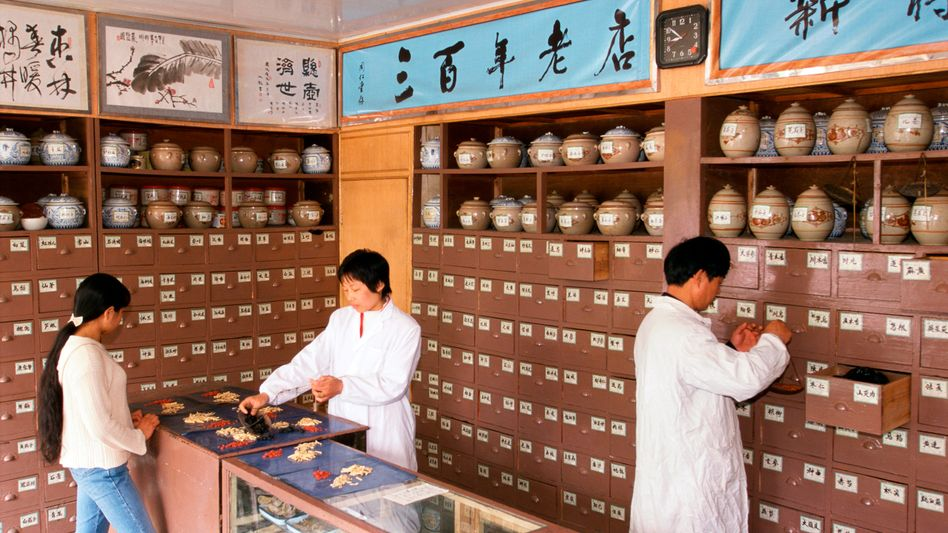 Apotheke für traditionelle chinesische Medizin: