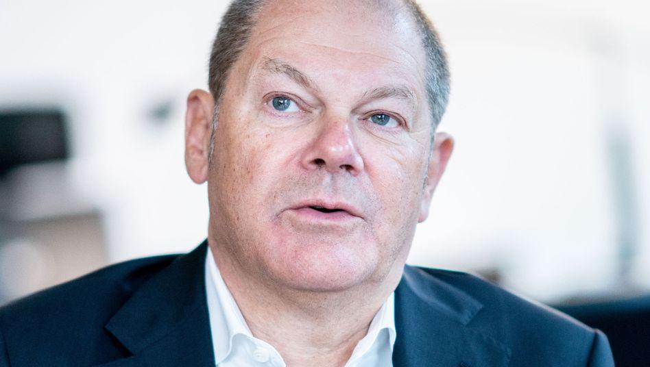 """Bundesfinanzminister Scholz: Steuerzahler """"in Geiselhaft"""""""