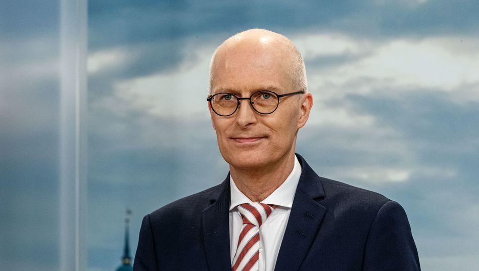 Peter Tschentscher im TV-Wahlstudio