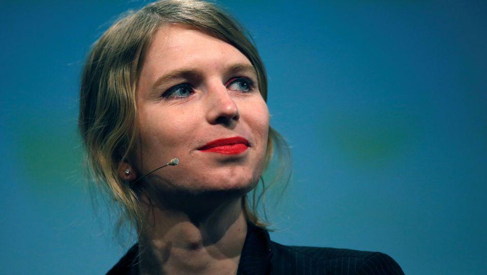 Chelsea Manning im Mai 2018 in Berlin