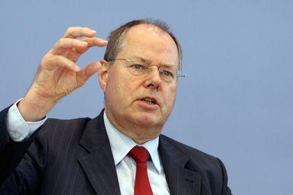 """Finanzminister Steinbrück: """"Wahlen werden in der Mitte entschieden"""""""