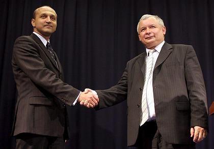 Marcinkiewicz und Nachfolger Jaroslaw Kaczynski: Empfehlung vom Komitee