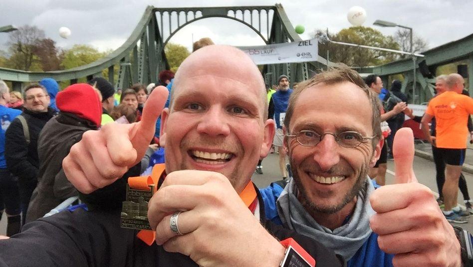 Micha Klotzbier und sein Trainer Piet Könnicke