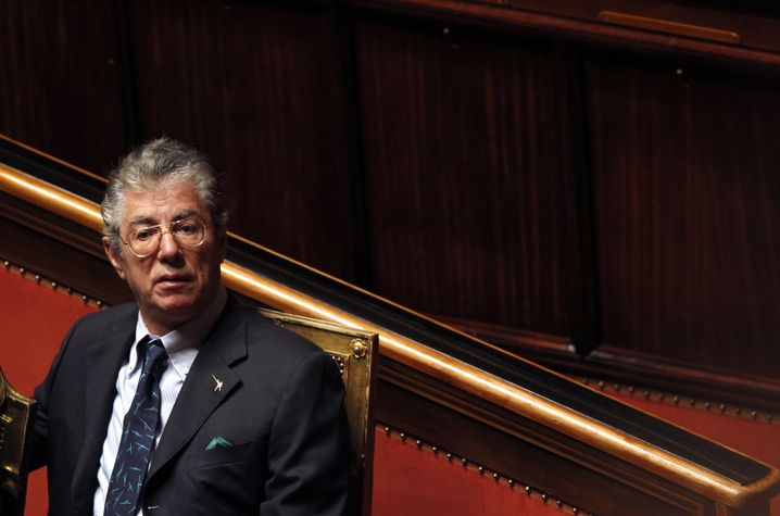 Umberto Bossi: Wüten gegen Europa und Italiens Süden