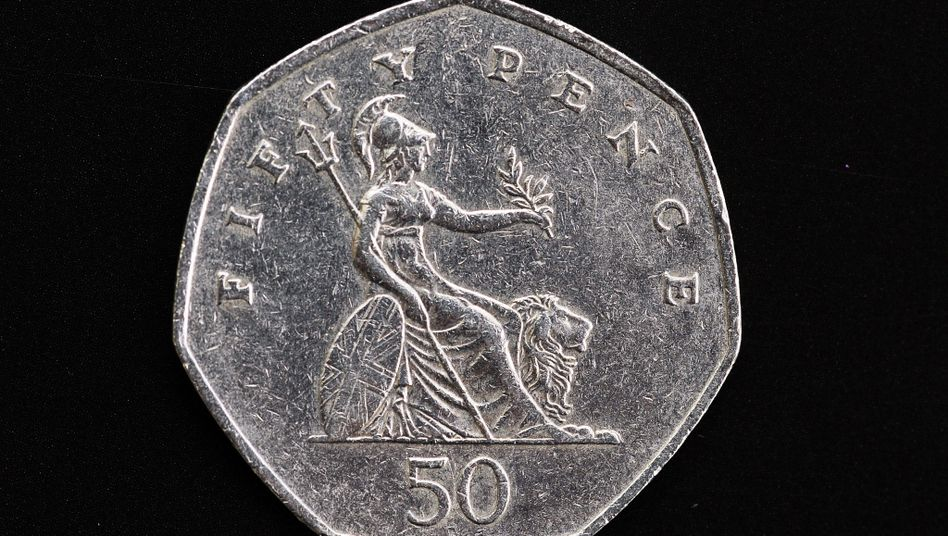 50-Pence-Münze von vorn (Archiv)
