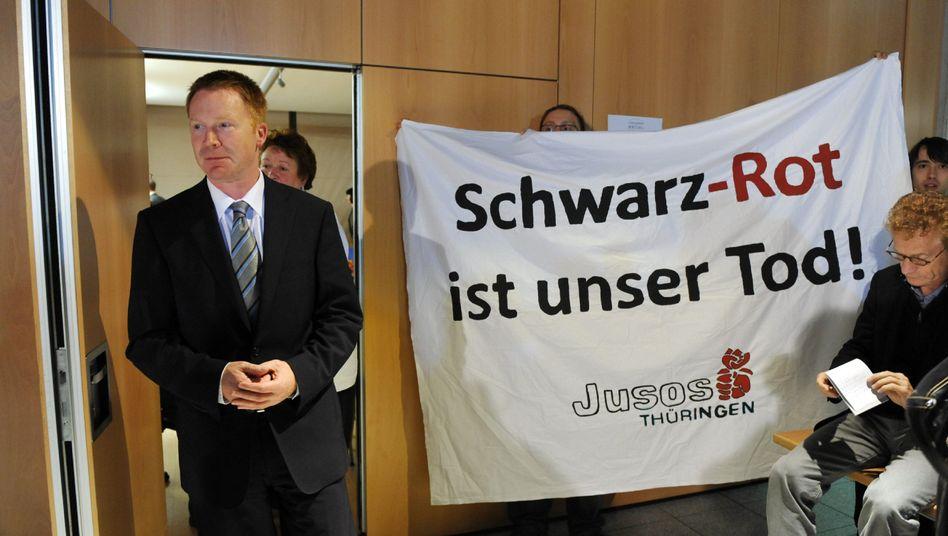 Thüringens SPD-Landeschef Matschie: Entscheidung für rot-schwarze Koalitionsgespräche