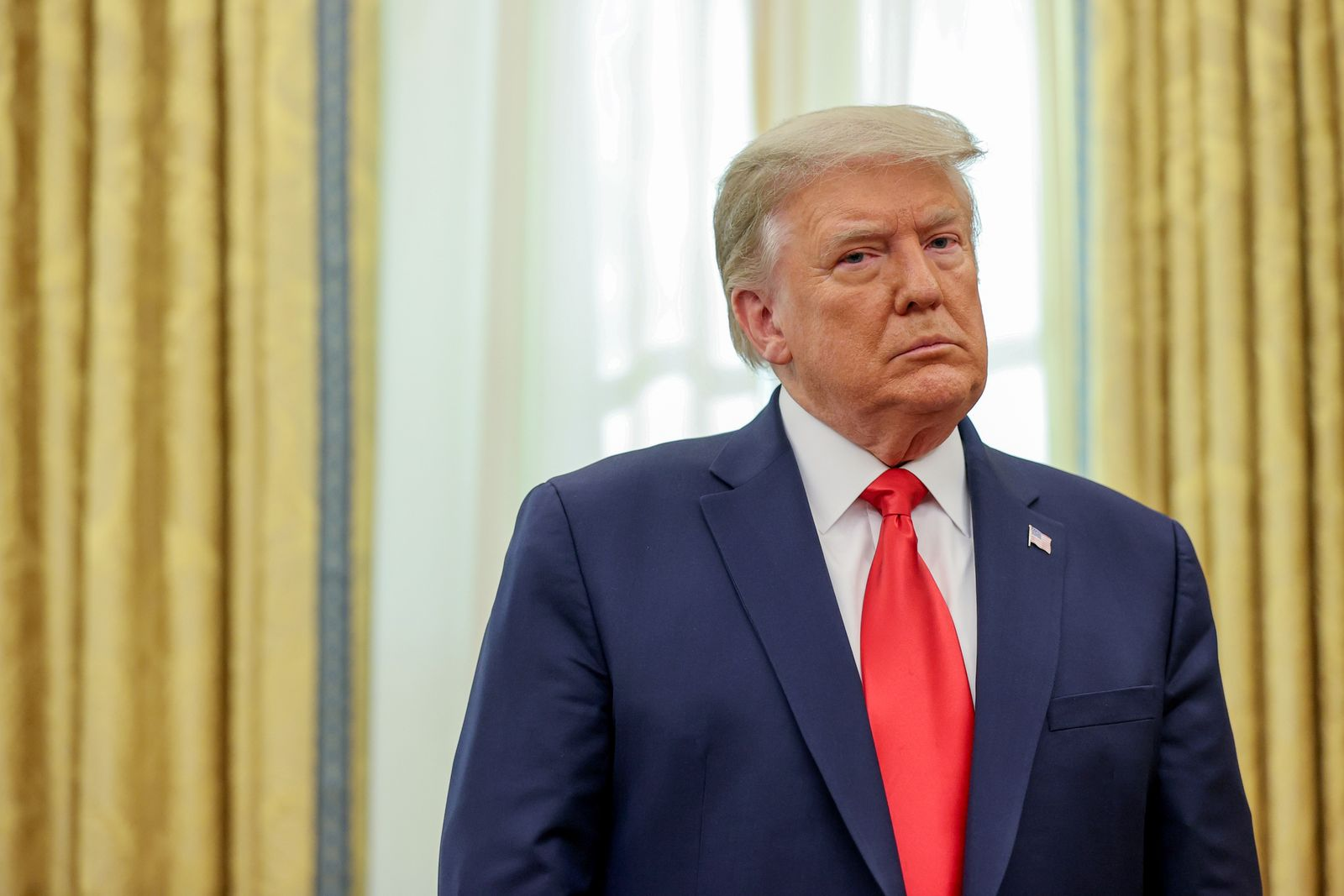 FILE PHOTO: U.S. President Trump participates in a medal ceremony in the Oval Office at the White House in Washington