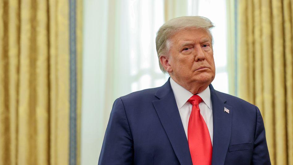 Donald Trump nach seiner Wahlniederlage im Weißen Haus