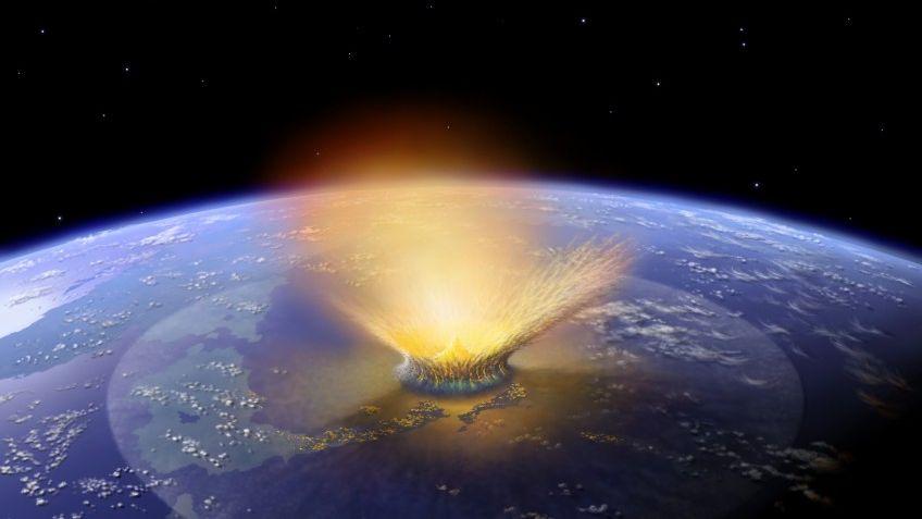 Asteroideneinschlag (Zeichnung): Das Ende kommt bestimmt