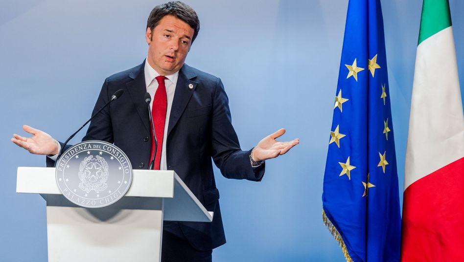 """Regierungschef Renzi: """"Wer entscheidet hier eigentlich?"""""""