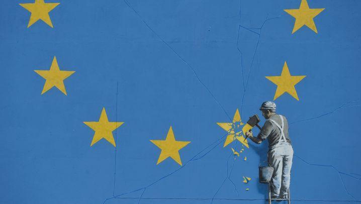 Banksy-Kunstwerk: Bröckelnde Sterne