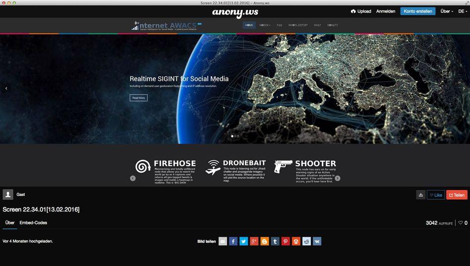 InternetAWACS Screenshot