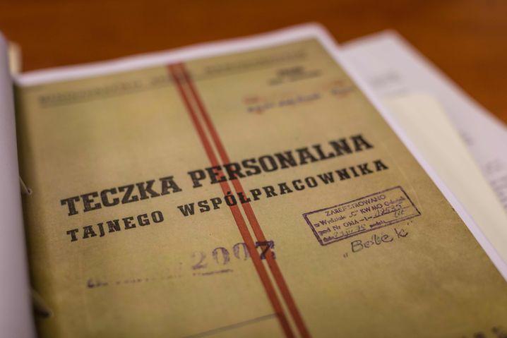 Angebliches Beweisstück: polnische Geheimdienstakte