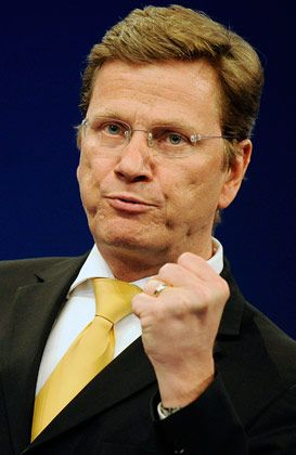 """FDP-Chef Westerwelle: """"In der kommenden Legislaturperiode wird Deutschland endlich atomwaffenfrei"""""""