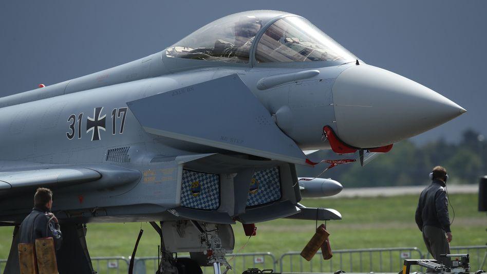 Eurofighter auf der Internationalen Luftfahrtausstellung in Schönefeld