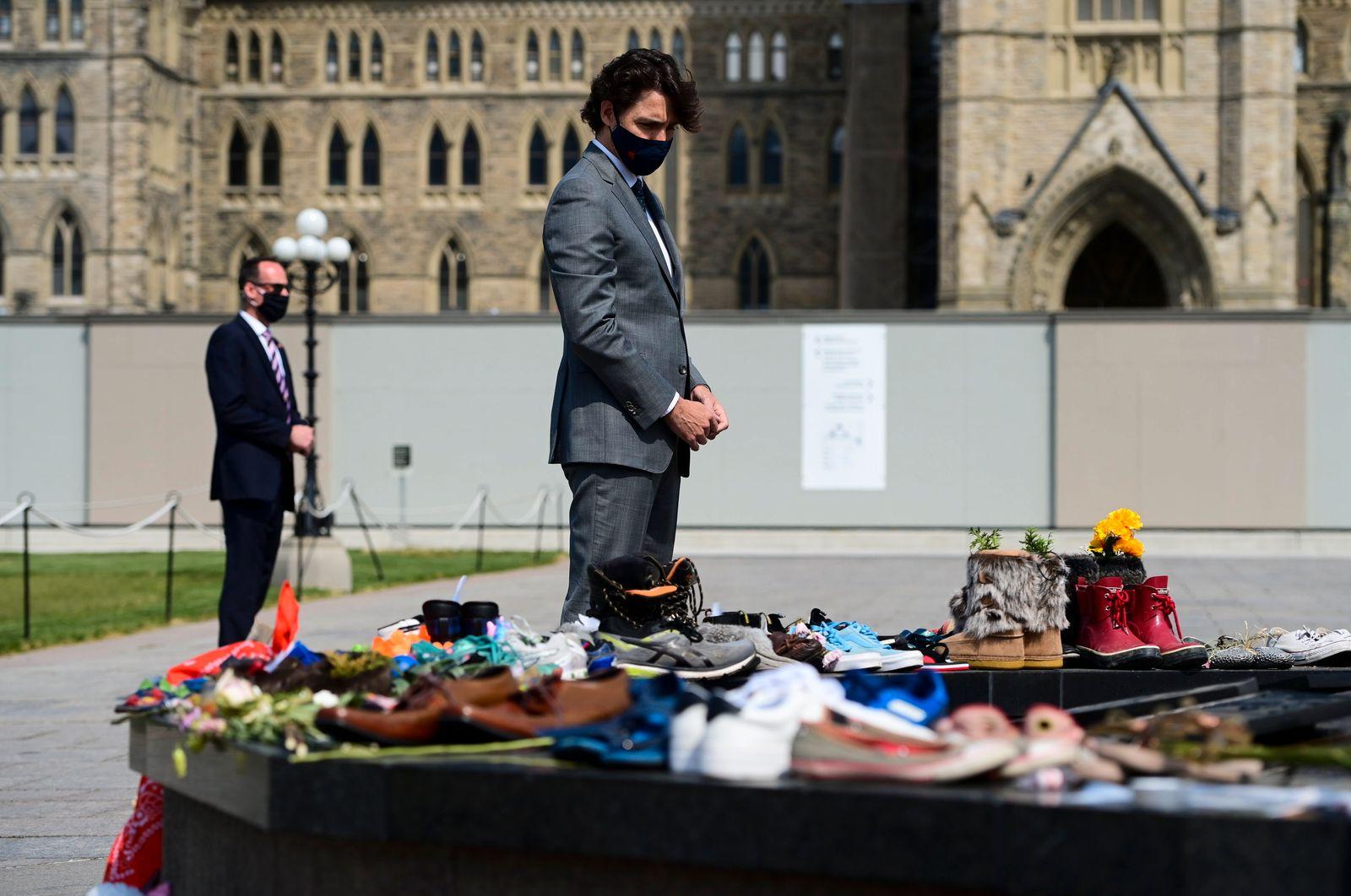 Canada-Indigenous-School-Deaths Trudeau Memorial