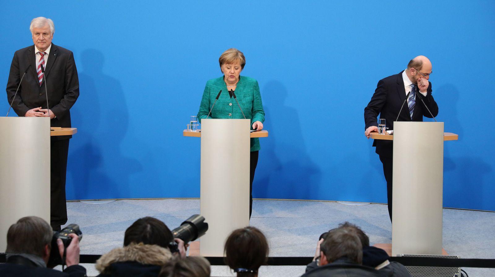 Merkel / Schulz / Seehofer