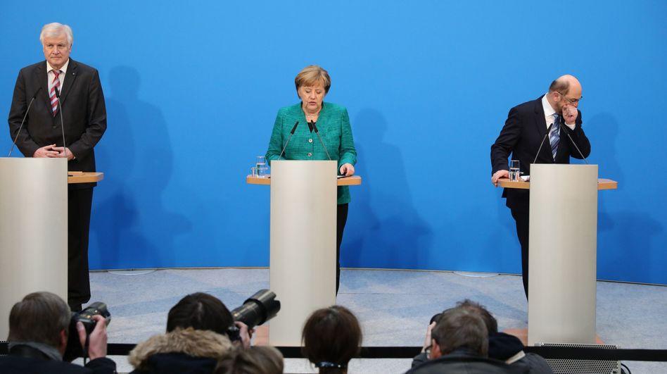 Horst Seehofer, Angela Merkel, Martin Schulz
