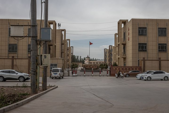This building complex on the outskirts of Kashgar is thought to have been a re-education center for Uighurs. Today, it is home to a party school.