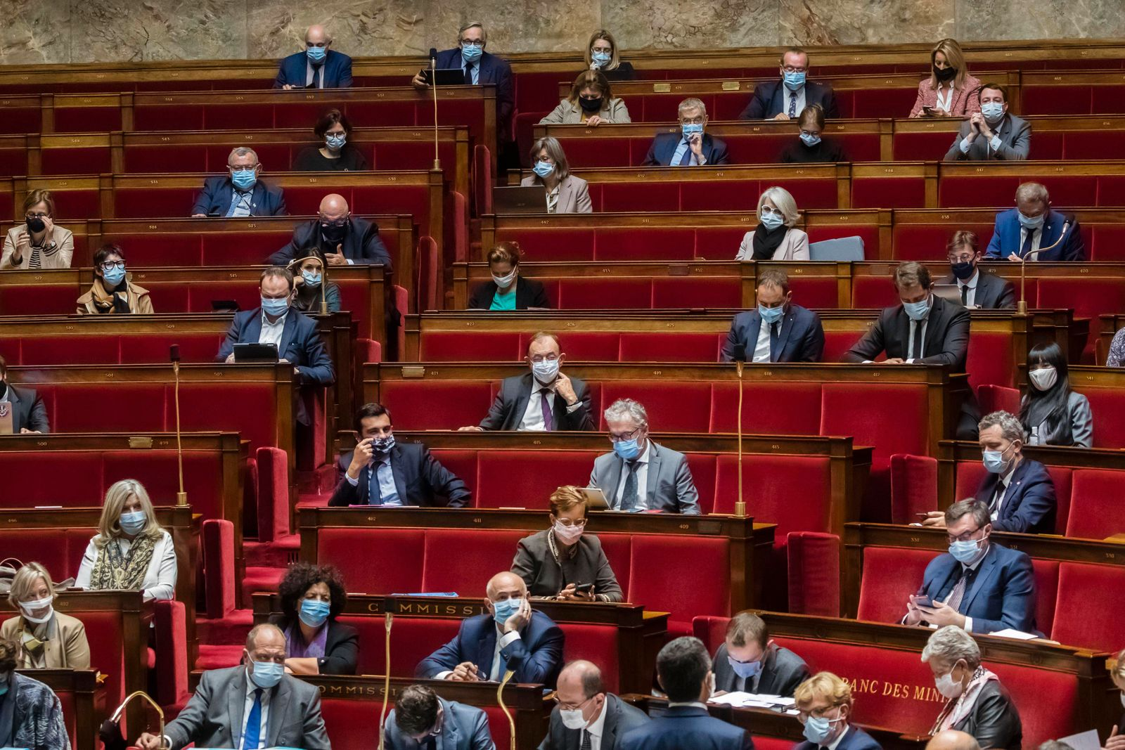 Frankreich, Sitzung der Nationalversammlung in Paris Paris, France October 13, 2020 - Weekly session of questions to the