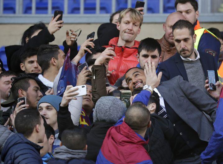 Kevin-Prince Boateng (M.) in Barcelona