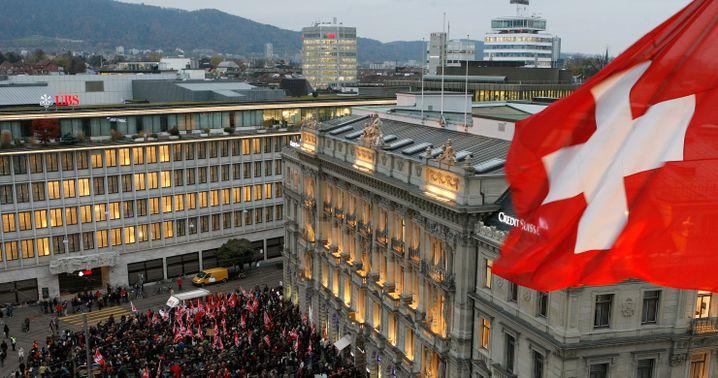 Bankenviertel in Zürich