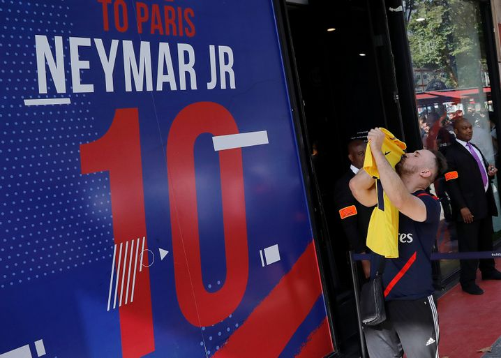 Neymar-Fans in Paris