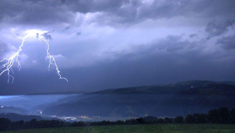 Himmel über Neunkirchen in Österreich