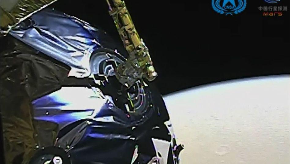 Mars-Sonde »Tianwen 1« auf einem Bild der China National Space Administration (CNSA)