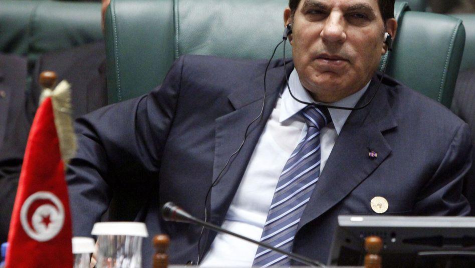 Präsident Ben Ali: Nach 23 Jahren aus dem Land gejagt
