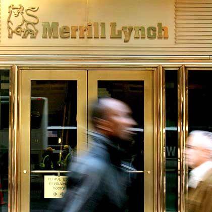 """Die Zentrale von Merrill Lynch in New York: """"Von Finanzkrise angestoßene Fusionsgespräche"""""""