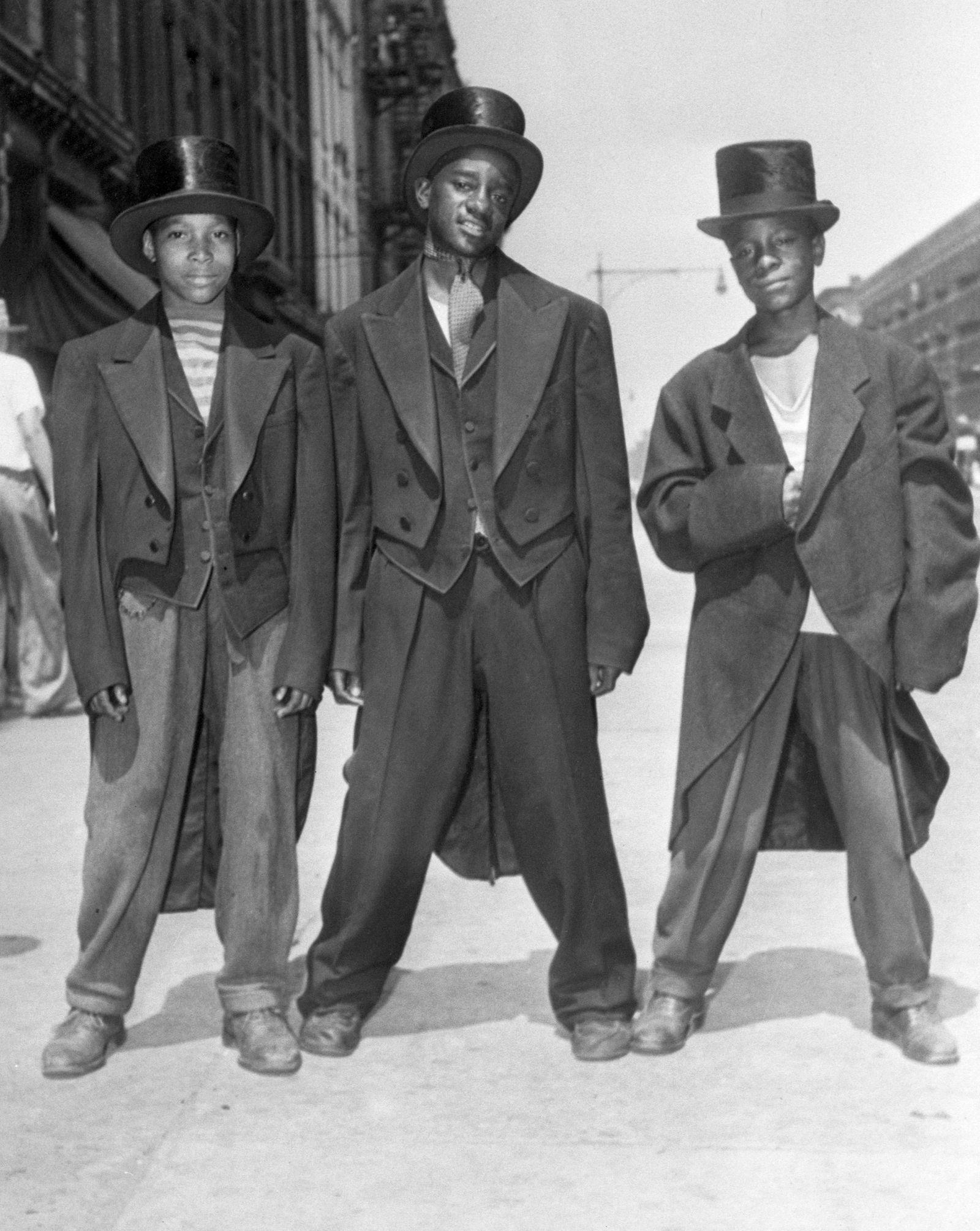 Boys Wearing Looted Formal Wear
