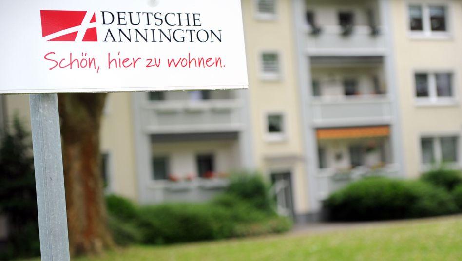 Informationsschild der Deutsche Annington: Zweiter Versuch an der Börse