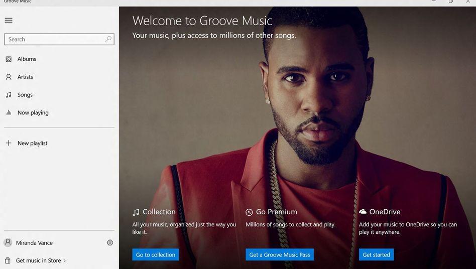 Werbebild zum Musikdienst Groove: Weiterentwicklung von Xbox Music