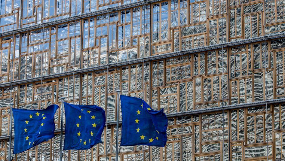 EU-Fahnen in Brüssel