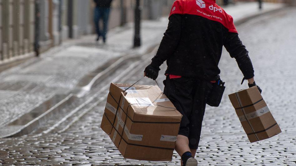 Paketzusteller haben in Deutschland mehr zu tun als woanders