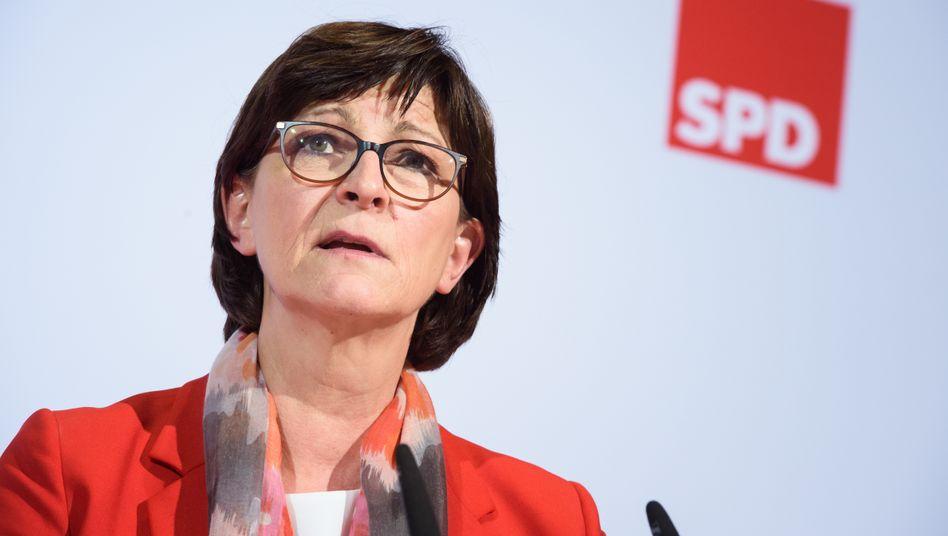 SPD-Chefin Esken: Ihre Sicht verdrehe die Perspektive, sagt ein Genosse