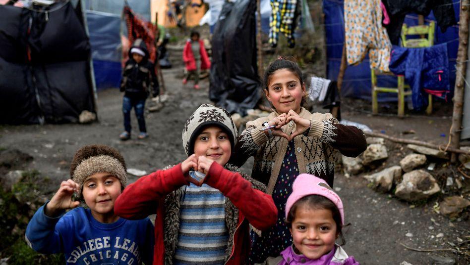 Flüchtlingskinder auf Samos