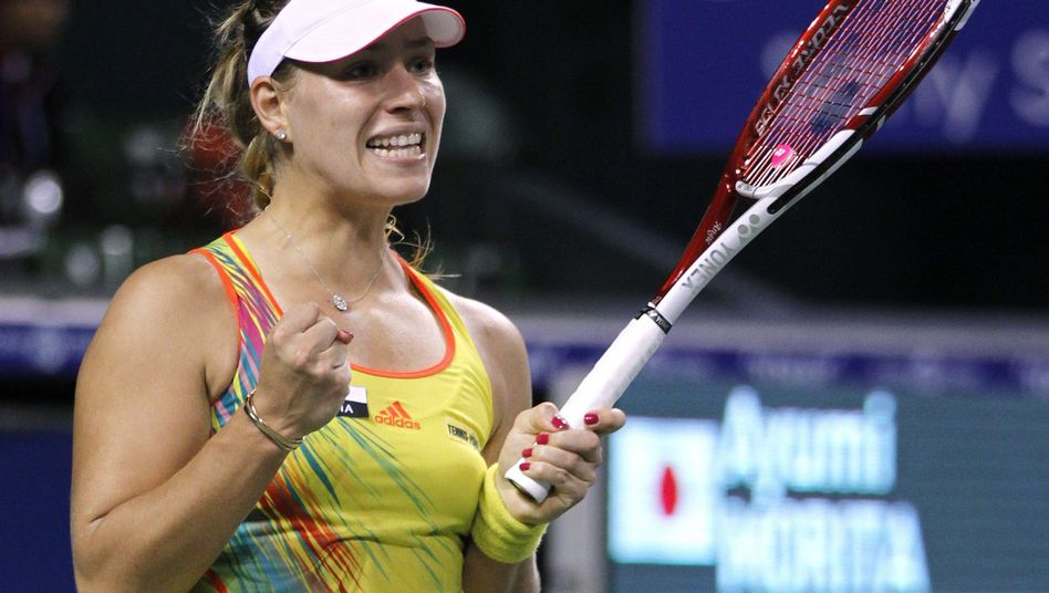 Nach Punktgewinn: Tennisspielerin Angelique Kerber bei den Pan Pacific Open