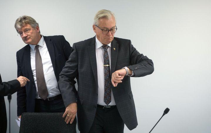 "AfD-Politiker Jörg Meuthen und Bernd Gögel: ""Liberale Selbsthilfegruppe"""