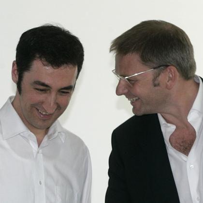 Wahlkampf ohne Kampf: Cem Özdemir (li) und Volker Ratzmann