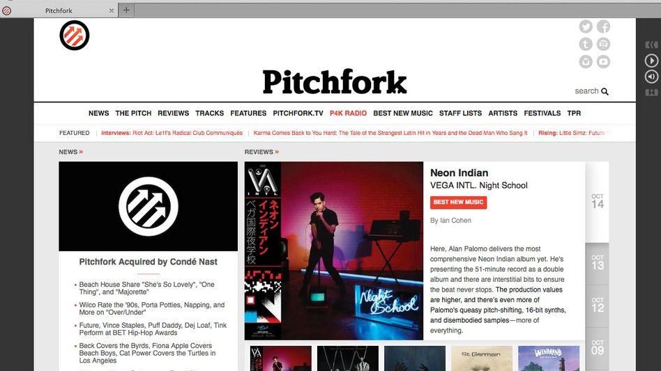 """Screenshot von """"Pitchfork"""": Hype-Generator der Indie-Szene"""