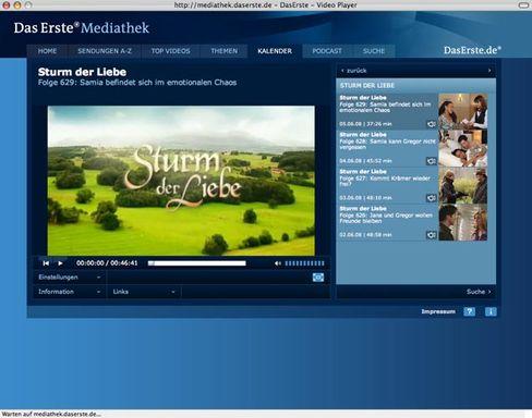 Screenshot der ARD-Mediathek: Streit um die Regelung der Details