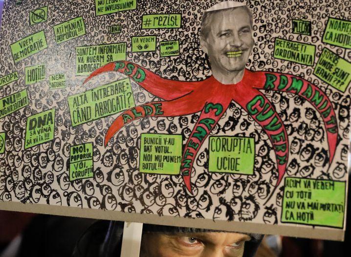 Proteste gegen PSD-Chef Dragnea (Archivbild)