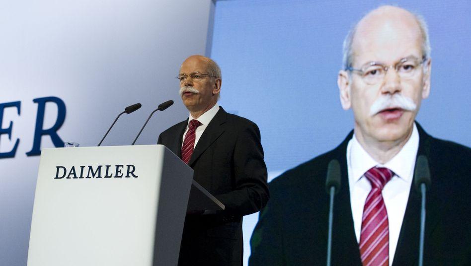 Daimler-Chef Zetsche: Es soll wieder aufwärts gehen