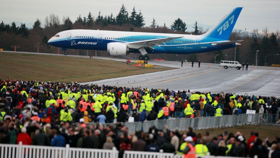Boeing 787 vor dem Erstflug, 2009.
