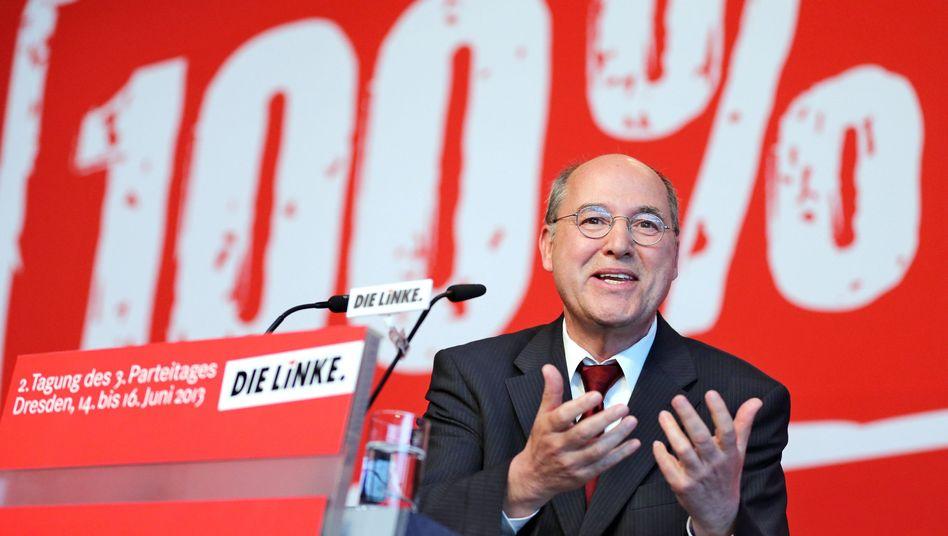 Gregor Gysi (beim Linken-Parteitag Mitte Juni): Angebot an die SPD